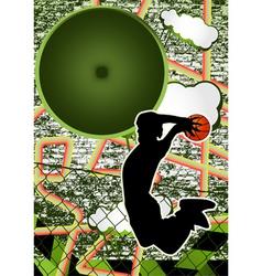 vintage urban grunge basket vector image vector image