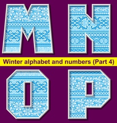 winter abc 04 vector image vector image