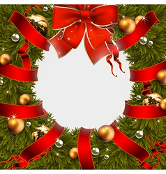 Christmas wreath design 155 Converted vector image vector image