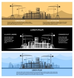 Construction building banners set vector image