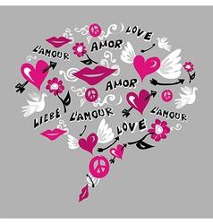 Talk bubble love vector image