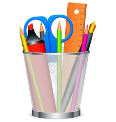 writing tools vector image vector image