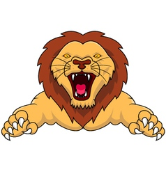 angry lion cartoon vector image