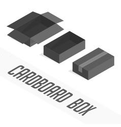 Black box set cardboard vector image
