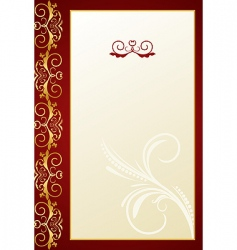 greeting ornament card vector image