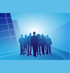 group of business people silhouette businesspeople vector image