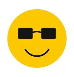 Happy smiley icon flat style vector image