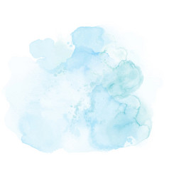 abstract soft blue splashing watercolor vector image