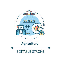 Agriculture concept icon vector