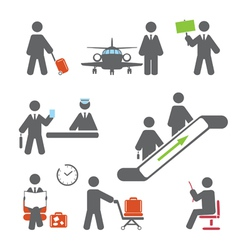 Air terminal icons vector