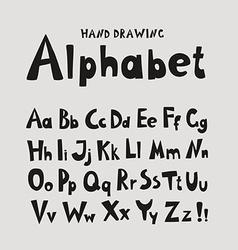 Alphabet Individual hand-drawing characters vector