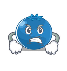 Angry blueberry character cartoon style vector