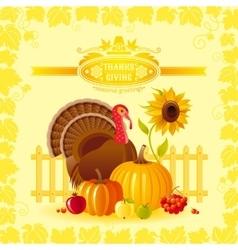 autumn thanksgiving vector image