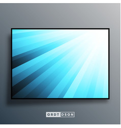 background template with blue gradient rays vector image