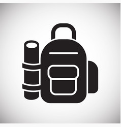 backpack icon on white background for graphic and vector image