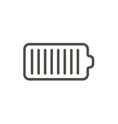battery icon line charge symbol vector image
