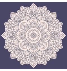 Beautiful Indian floral mandala ornament vector