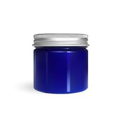 blue cream jar isolated on white background skin vector image