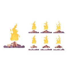 bonfire construction set vector image