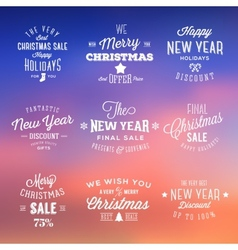 Christmas and New Year Vintage Sales Typography vector image