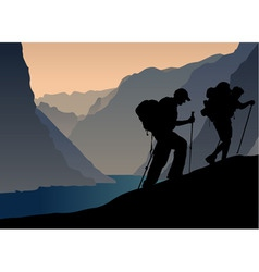 climbers vector image