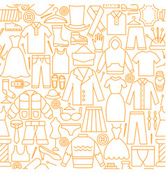 Clothes line seamless pattern vector