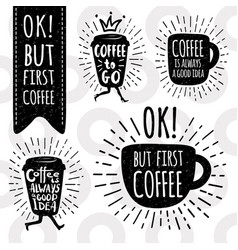 Coffee trendy set vector