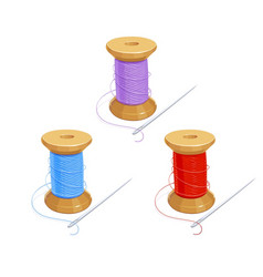 colored thread reel vector image