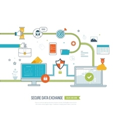 Concepts for data protection encryption vector