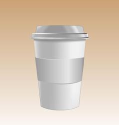 Cup mockup vector