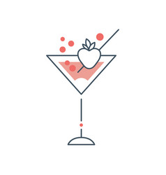 Delicious martini cocktail in glass with vector