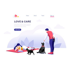 domestic concept pet care vector image