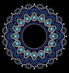 Dot-paiting-aboriginal-style-mandala-5c vector