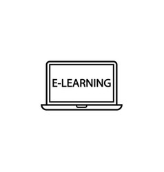 e-learning line icon education and school element vector image