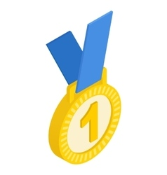 First place medal isometric icon vector image