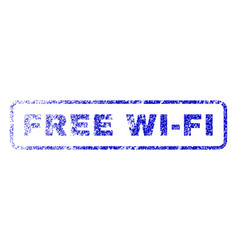 Free wi-fi rubber stamp vector