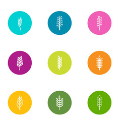 granule icons set flat style vector image
