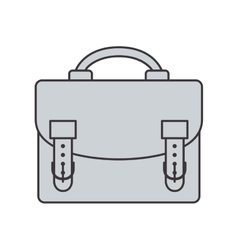 Gray silhouette with briefcase executive brown vector