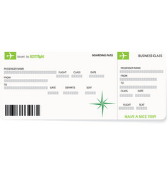 Green pattern of a boarding pass ticket vector