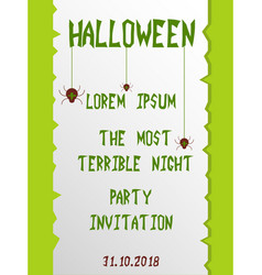 halloween vertical background flyer or invitation vector image