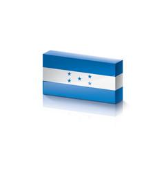 Honduras flag on a white vector