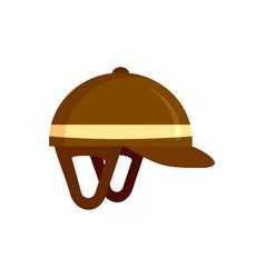 Horseback riding helmet icon flat style vector