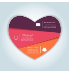Infographic Heart Templates for Business vector