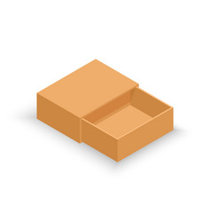 isometric opened cardboard box delivery vector image