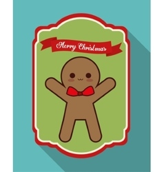 Kawaii coockie of Christmas season vector