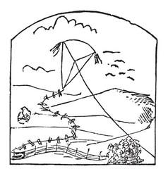Kite vintage vector