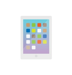 Modern Electronic Tablet Gadget White vector