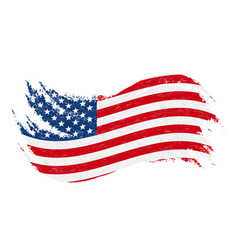 National flag of the united states of america vector