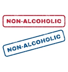 Non-alcoholic rubber stamps vector