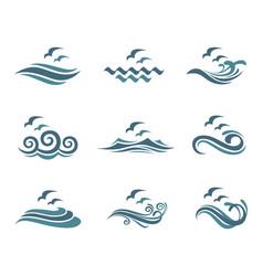 ocean logo set vector image